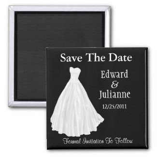 Wedding Dress Save the Date magnet