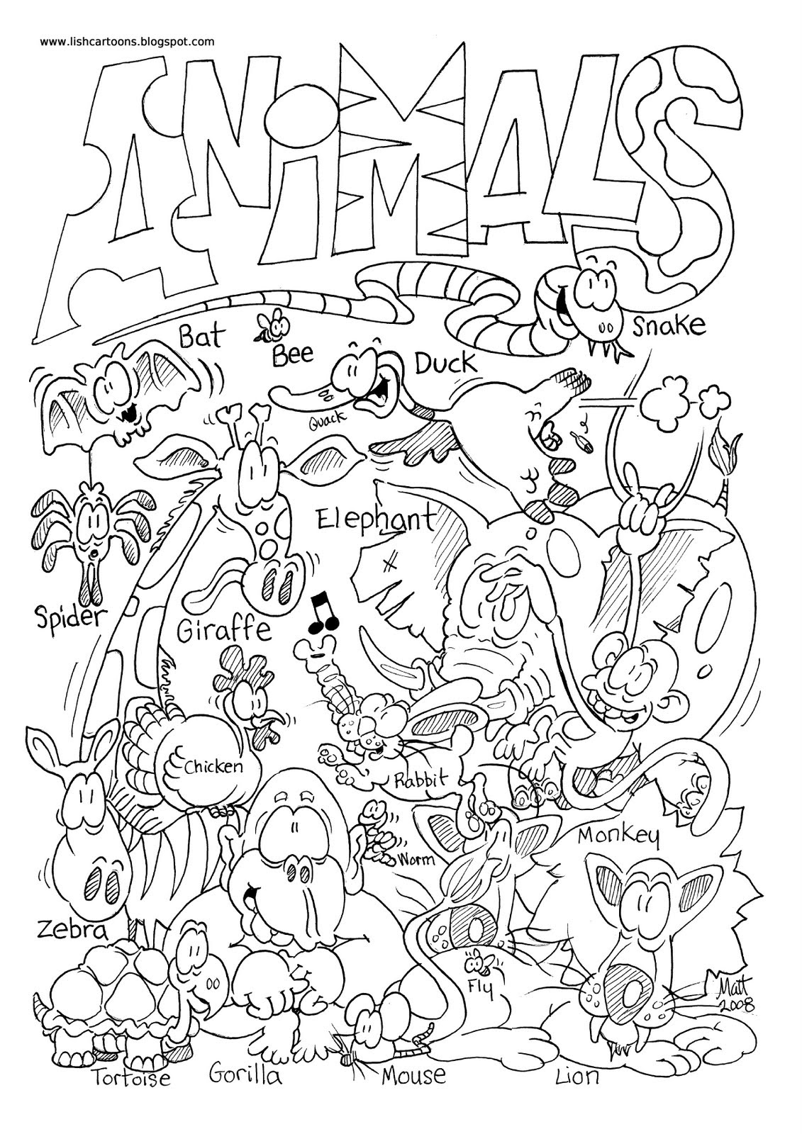 Zoo Animal Coloring Pages For Preschool at GetColorings ...