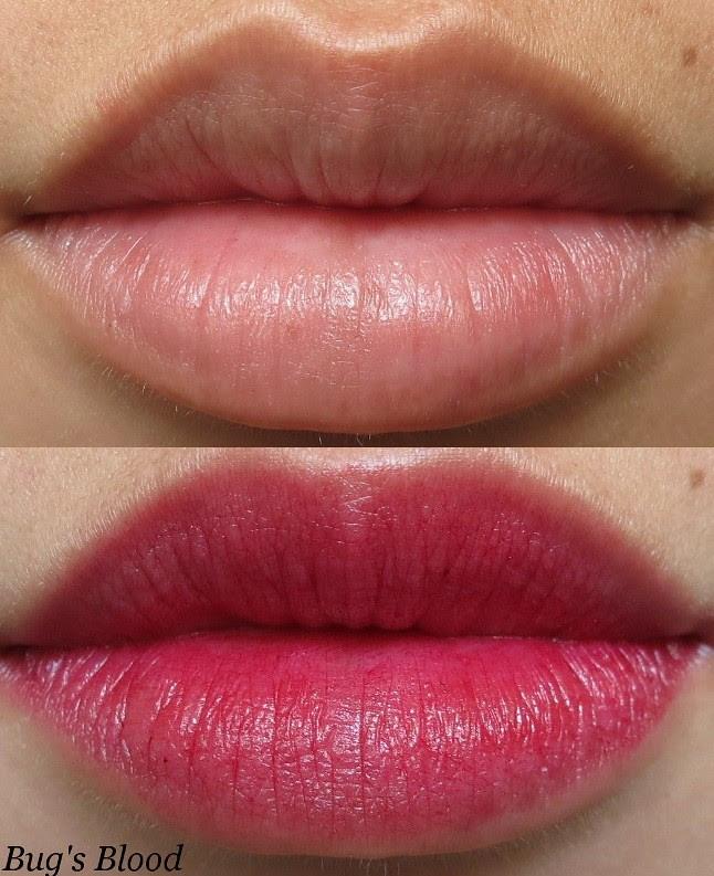 Portland Black Lipstick Company Bug's Blood Swatch