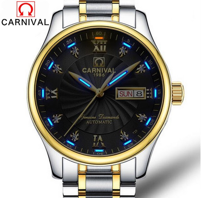 443359b0c04 Carnival Tritium Luminous Series Luxury Business Men s Watches Top Brand  Automatic mechanical Watch Waterproof Sapphire Glass