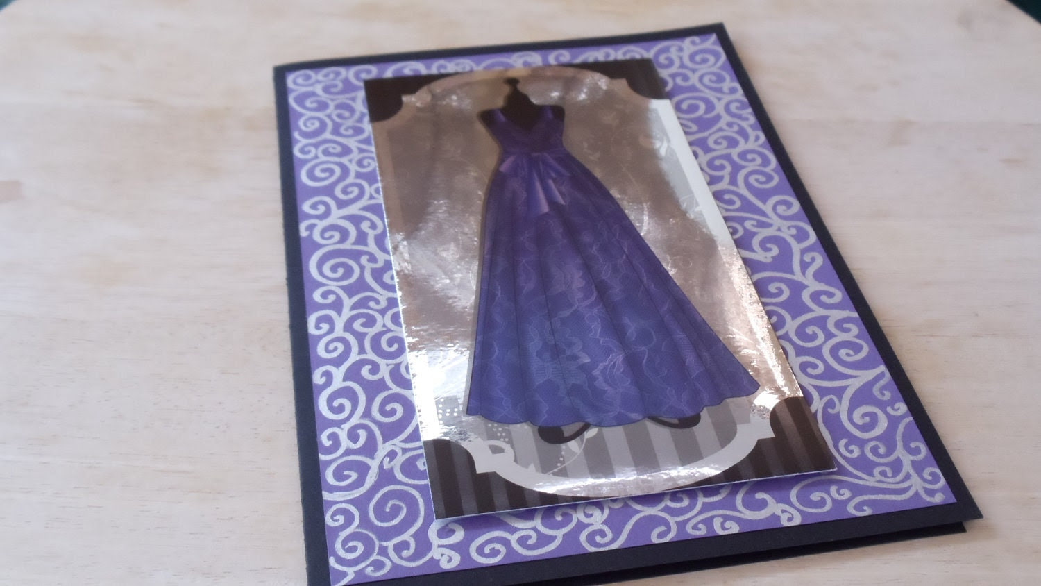 Special Offer - Reduced Ball Gown Card (Purple)