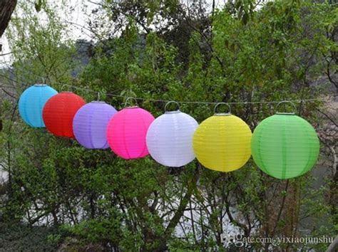 Chinese Lanterns Style LED Solar Lamps Paper Lantern