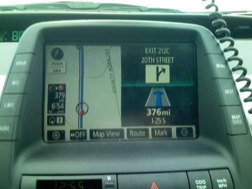 Prius navigation system in Wyoming