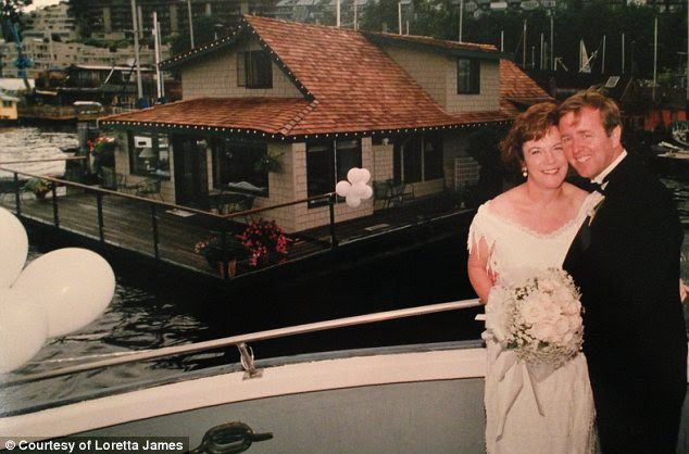 Still Sleepless: Loretta and Jim Healy bought the four-bedroom floating home in 1993 and say that they have been happy there for the past 20 years