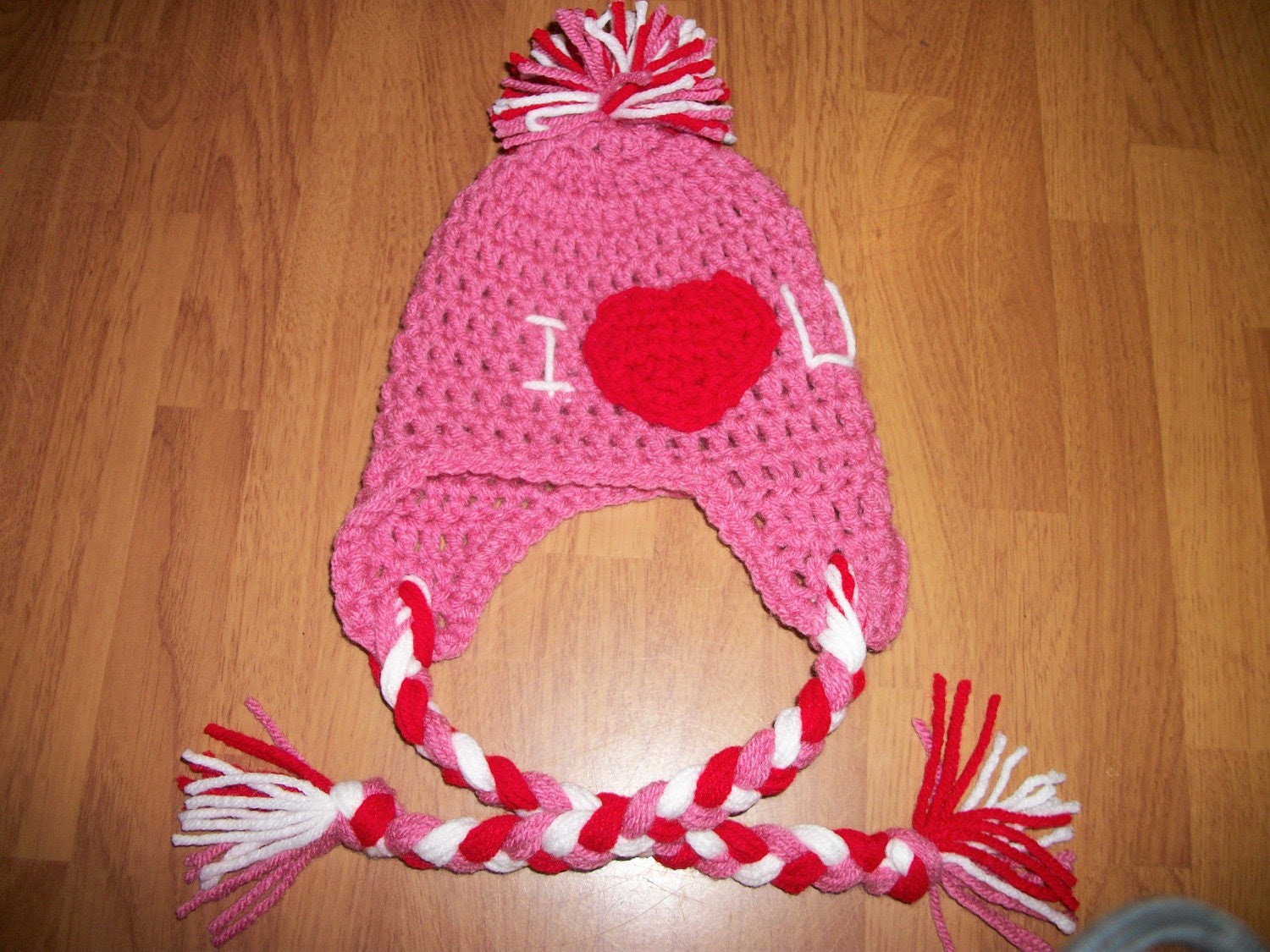 6-12 Month Valentine Hat - Photo Prop - I Heart You