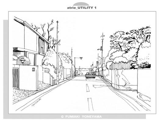 風景のイラスト田園調布の住宅街02 幸せのイラストレイジ