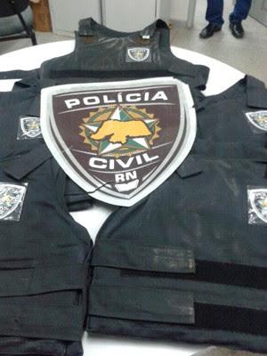 Delegacia de Macaíba está com coletes vencidos (Foto: Divulgação/Sinpol/RN)
