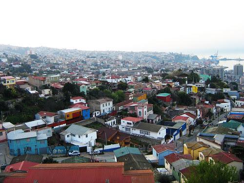 View of Valparaiso from the top of La Sebastiana