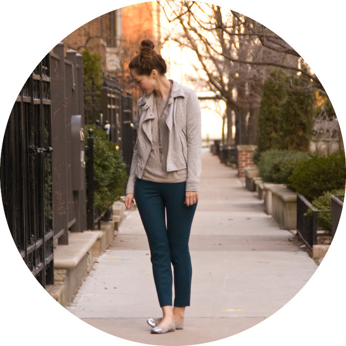 dash dot dotty, outfit blog, ootd, blue j.crew minnie pants, silver and blue, glitter flats, workfit