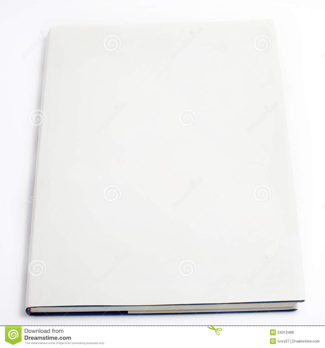 Blank Book Cover White Royalty Free Stock Image - Image: 24312486