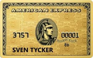 Mitt American Express-kort