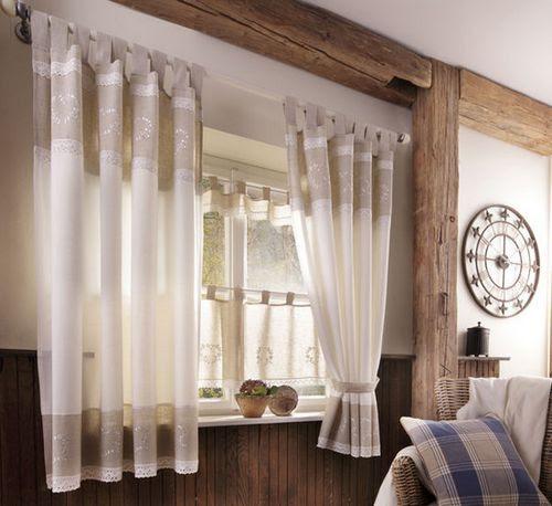 2x gardine 140 x 225 natur weiß landhaus stil leinen optik