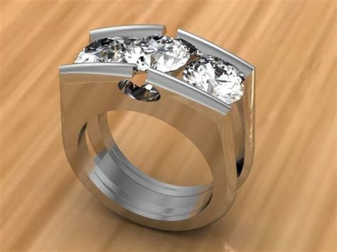 3 Stone Diamond Tension Set RIng   Raddest Men's Fashion