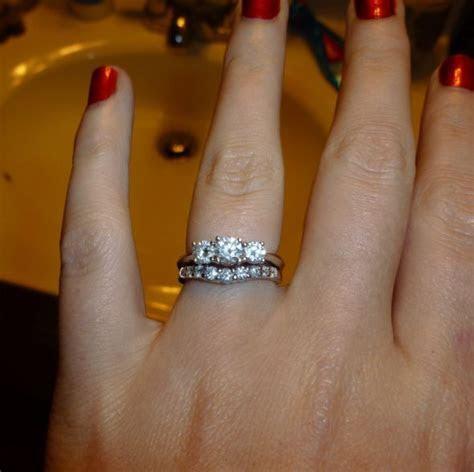 Three Stone Diamond Ring Enhancer   Wedding, Promise