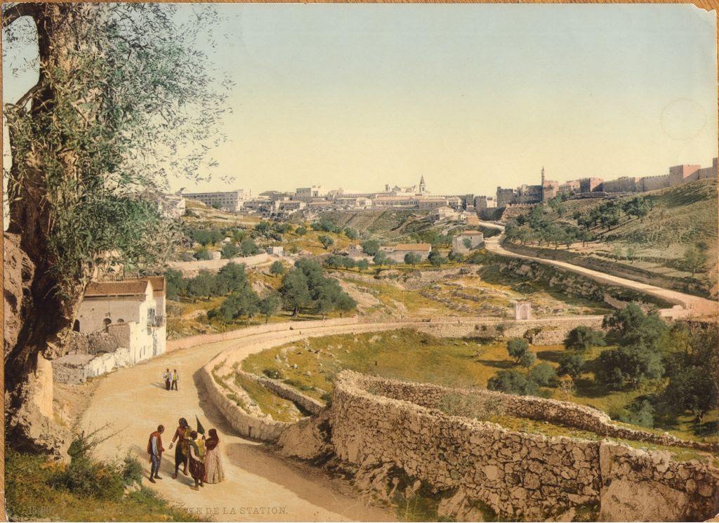 Jerusalem, view from the southwest (undated) (photo credit: © DEIAHL, Jerusalem)