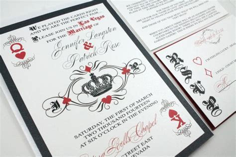 Las Vegas Wedding Invitations Fun And Unique Playing Card