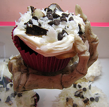 Candy Cupcake #4: Mounds Bar Coconut Cupcakes with Vanilla Coconut Frosting