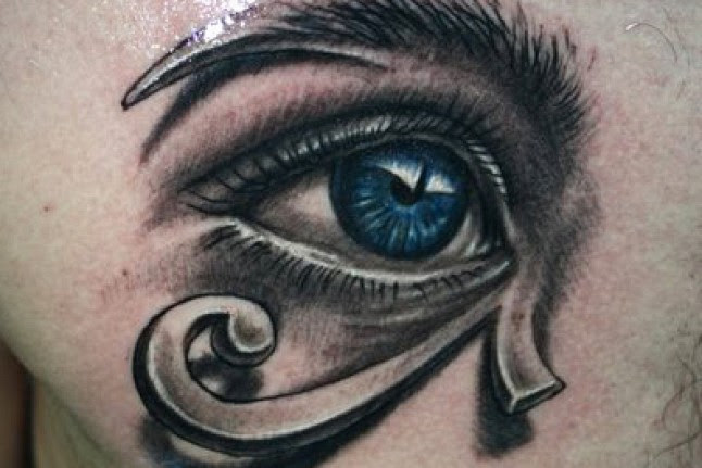 Triangle And Horus Eye Tattoo