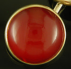 William Huger carnelian cufflinks. (J9183)