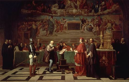 Galileo ante el Santo Oficio, por Joseph-Nicolas Robert-Fleury.