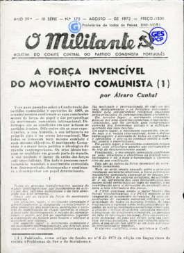 O Militante, Série 3, n.º 175 (AGO. 1972)