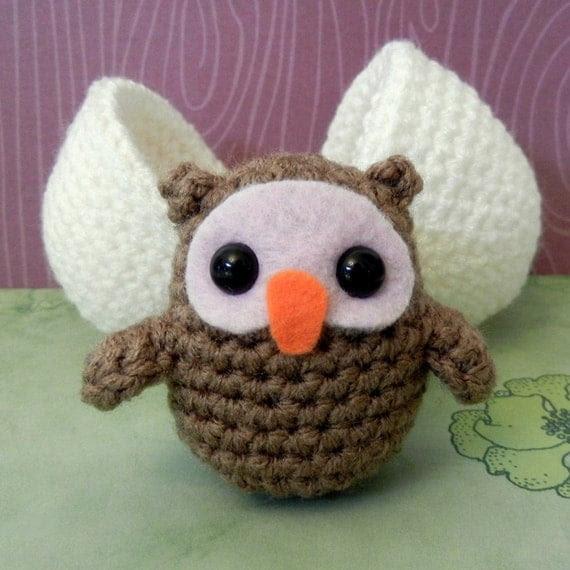 Crochet Pattern: Amigurumi Egg Babies, Owl Chick and Egg