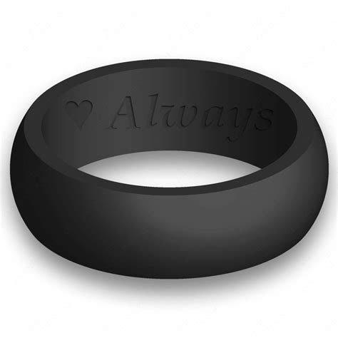 Custom Engraving Mens Silicone Wedding Ring Band Flexible