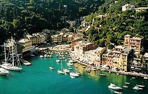 Portofino, a small Italian fishing village on ...