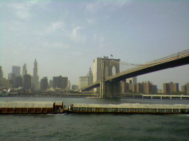 passing a gravel barge down the East River