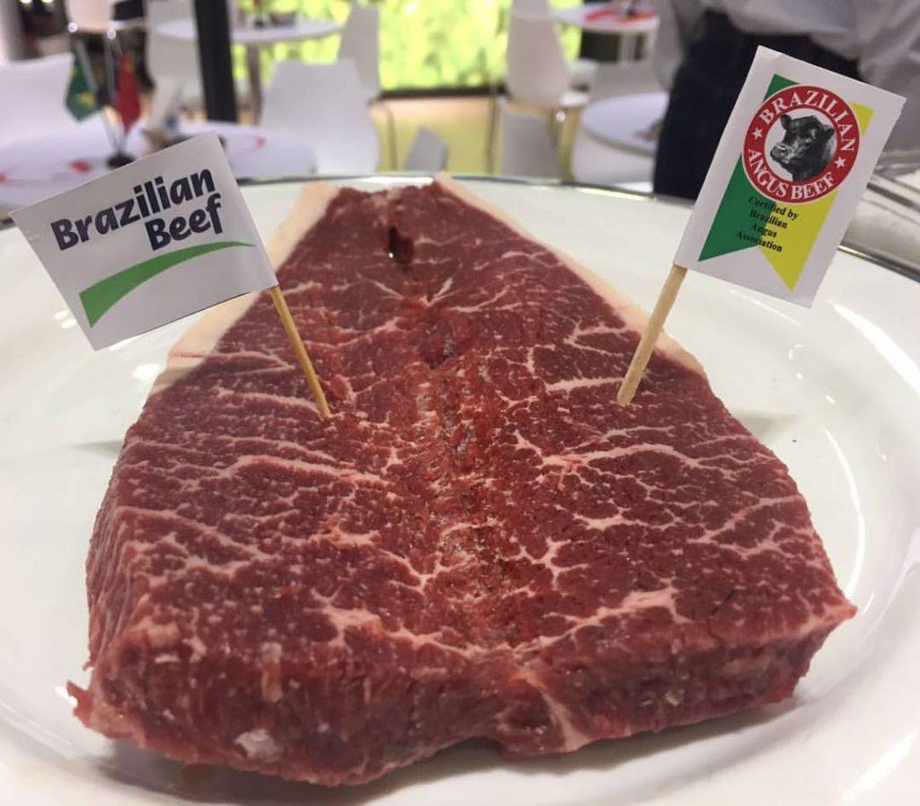 Carne Angus brasileira é destaque em feira da China