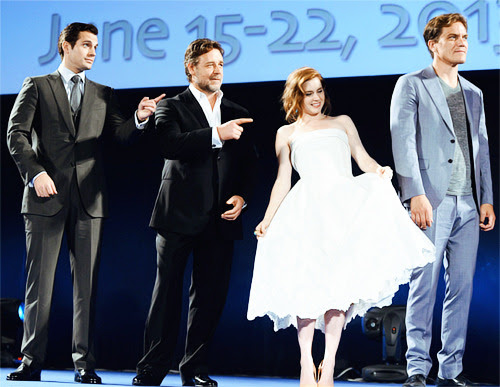 Henry Cavill, Russell Crowe, Amy Adams and Michael Shannon at Taormina Filmfest 2013