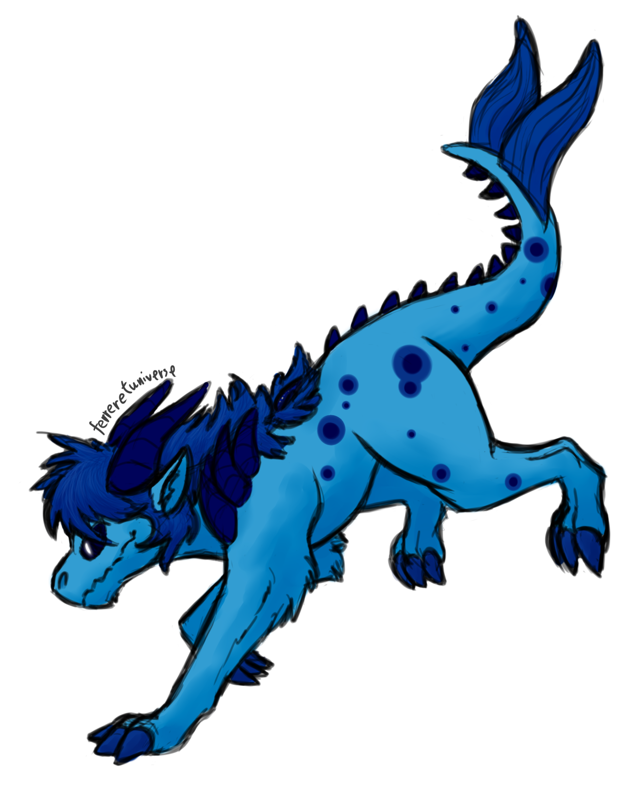 doodled @flamingheadphones 's corrupted Lapis! had a lot of fun with this one