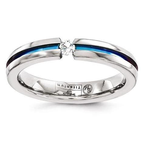 Edward Mirell Titanium White Sapphire & Rainbow Anodized