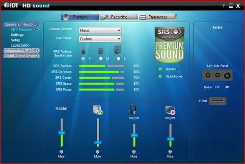 IDT HD Sound + SRS