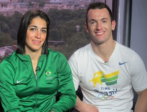 Diego e da Daniele Hypolito londres 2012 olimpiadas (Foto: Lydia Gismondi / GLOBOESPORTE.COM)