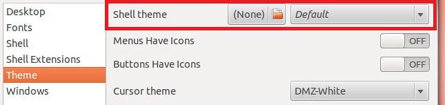 gnome shell 3.4 themes