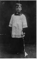 Norbert Ainscough altar boy