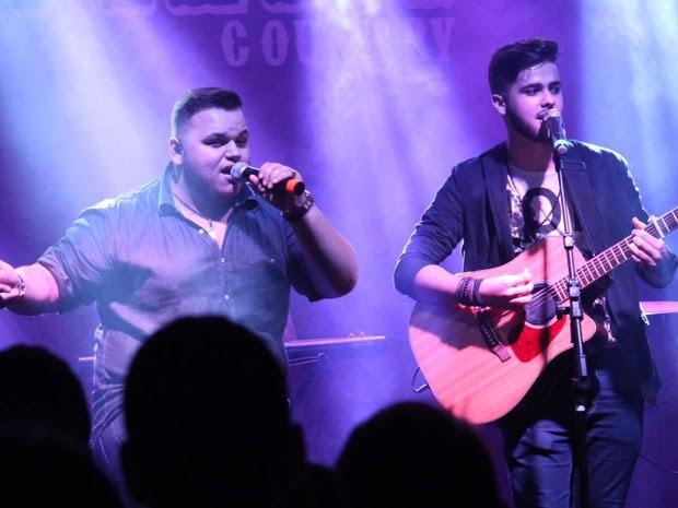 Lucas e Gustavo tiveram os violões furtados em Palmas (Foto: Divulgação)