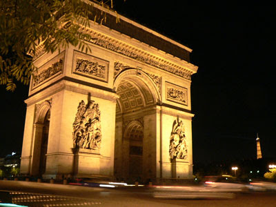 凱旋門(Arc de Triomphe)fromパリ