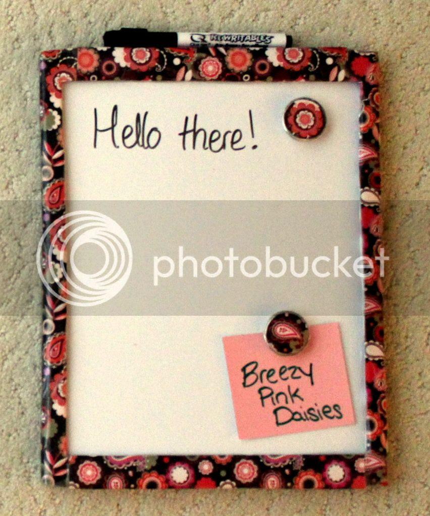 Scrapbook paper Dry Erase board