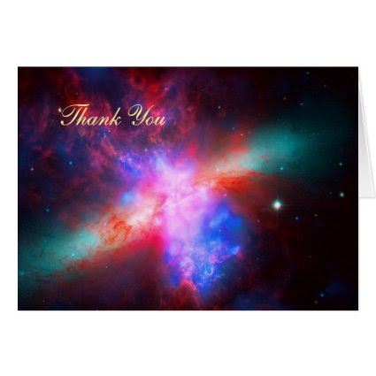 Thank You - Cigar Galaxy, Messier 8 Greeting Card