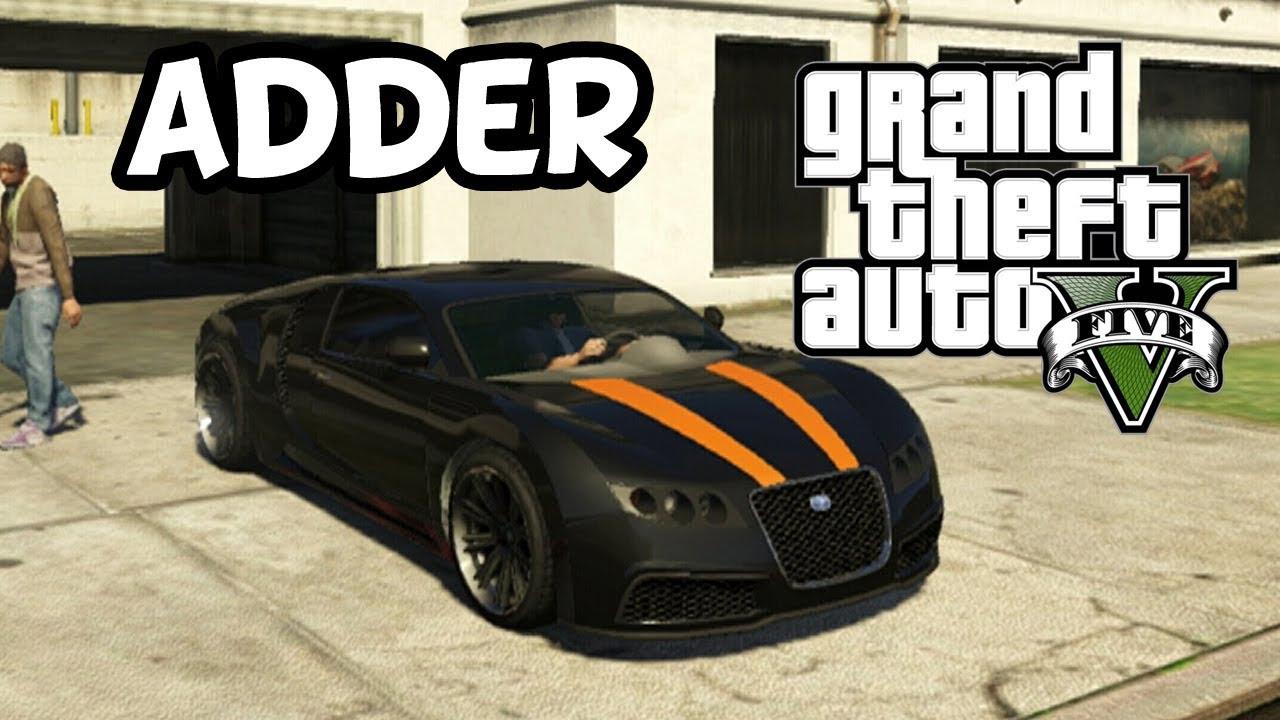Grand Theft Auto 5 Secret Car Location - Adder (Bugatti Veyron) - YouTube