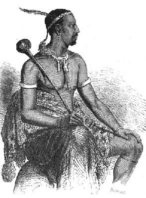 Sketch of King Moshoeshoe I by Eugène Casalis