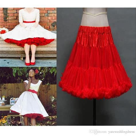 Red Ruched Petticoats Colorful Custom Made Tulle