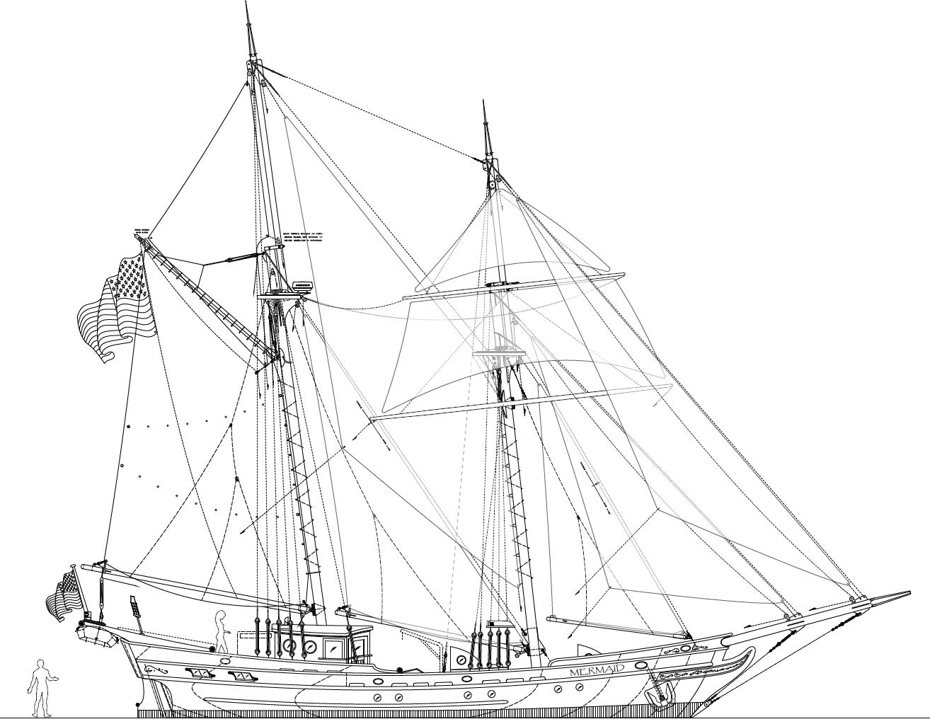 61' MERMAID - An Authentic 1700's Brigantine by Kasten Marine Design