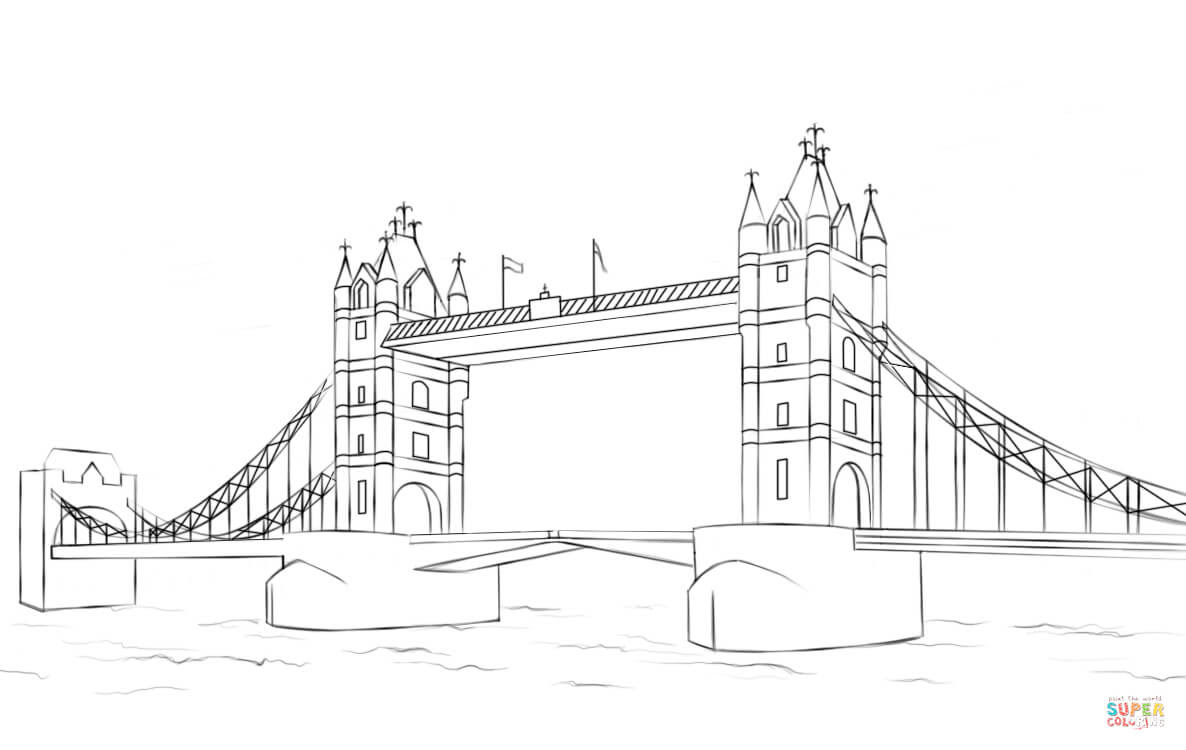 Tower Bridge Coloring Page Free Printable Coloring Pages