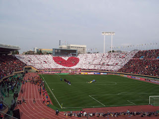 Urawa Reds fans at the 2007 Emperor's Cup Final in Tokyo