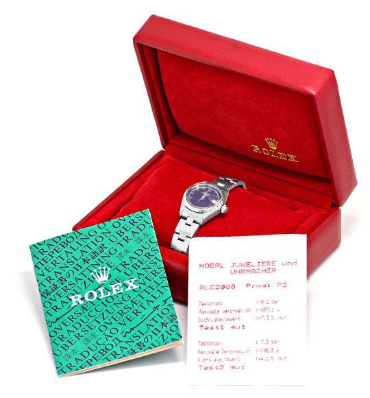 Originalfoto ROLEX DATE DAMEN-UHR EDELSTAHL WEISS-GOLD OYSTER