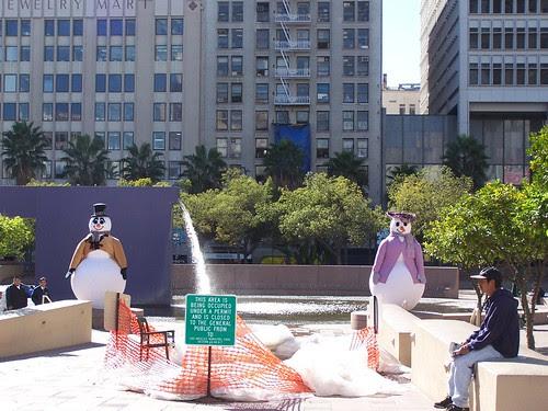 downtown snowmen