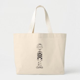 The creepy boy tote bag
